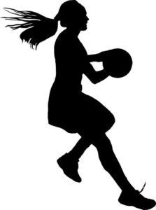 image of girl with netball